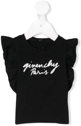 Givenchy Kids logo print ruffle top