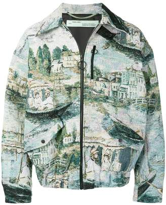 Off-White lake jacquard jacket