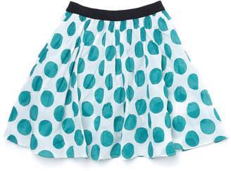 Marni (マルニ) - MARNI コインドットプリント ギャザー スカート ブルーグリーン 2