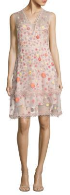 Elie Tahari Jayla Embroidered Silk Organza Dress $698 thestylecure.com