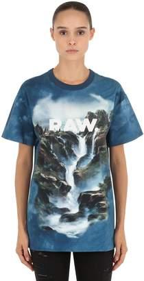 Loose Cyrer Water Printed Jersey T-Shirt