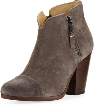 Rag & Bone Margot Suede Double-Zip Boot, Gray $399 thestylecure.com