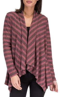 Bobeau B Collection by Amie Striped Cardigan