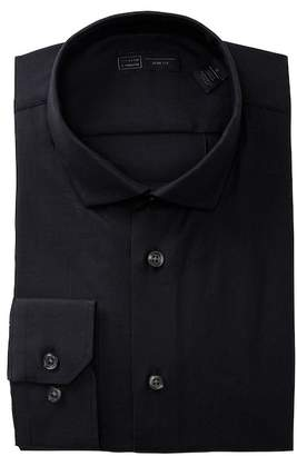 14th & Union Trim Fit Textured Solid Dress Shirt