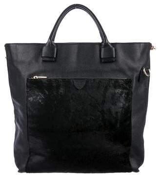 Marc Jacobs Ponyhair-Paneled Leather Tote