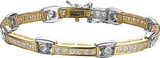 Genevive 14K Gold Over Silver Cz Bracelet