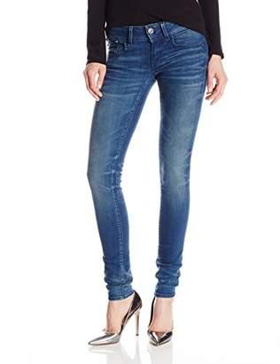 G Star Women's Lynn Mid Rise Skinny Fit Jean in Frakto Superstretch