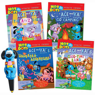 Learning Resources Educational Insights Hot Dots Jr Interactive Storybooks 4-Book Set With Ace Pen