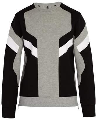 Neil Barrett Panelled Crew Neck Sweatshirt - Mens - Grey
