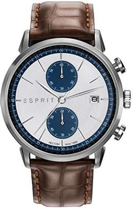 Esprit Men's Chronograph Quartz Watch with Leather Strap ES109181001