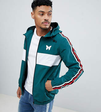 Asos Good For Nothing windbreaker in green with side stripe exclusive to