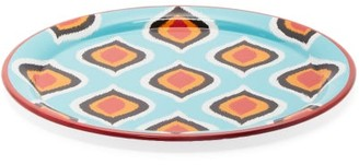 Les Ottomans - Ikat Hand Painted Iron Tray - Blue Multi