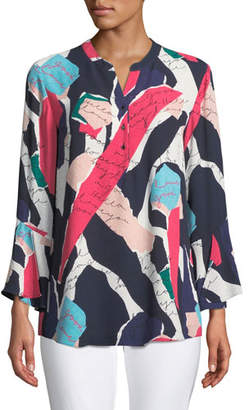 Nic+Zoe Love Letter Printed Tunic, Plus Size