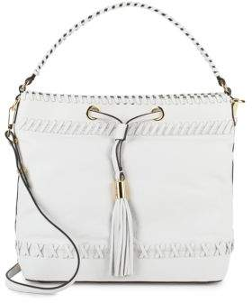 Milly Astor Whipstitch Leather Bucket Bag