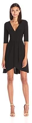 Star Vixen Women's Elbow Sleeve Surplice with Tulip Skirt