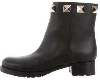 Valentino Leather Rockstud Ankle Boots w/ Tags