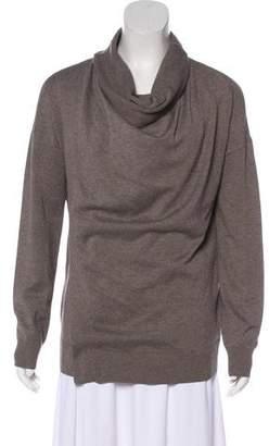 AllSaints Silk-Blend Long Sleeve Sweater
