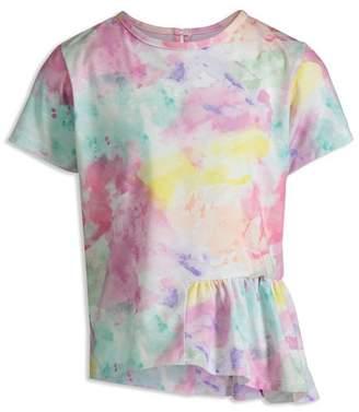 Mini Series Girls' Watercolor Ruffle Tee, Little Kid - 100% Exclusive