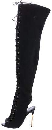 Tom Ford Lace-Up Thigh-High Boots
