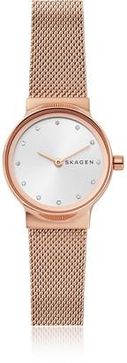 Skagen Freja Rose Gold-Tone Steel-Mesh Women's Watch