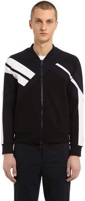 Neil Barrett Patchwork Neoprene Zip-Up Sweatshirt