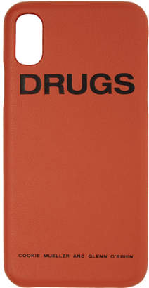 Raf Simons Orange Drugs iPhone X Case