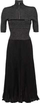 Prada fitted knit pleated dress