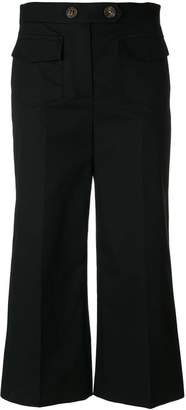 RED Valentino wide leg cropped trousers