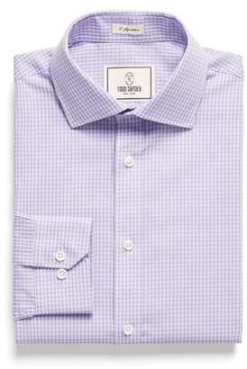 Todd Snyder White Label Spread Collar Dress Shirt in Lavender Plaid