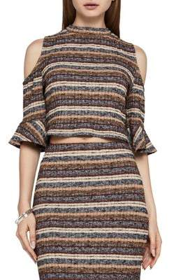 BCBGeneration Mockneck Cropped Top