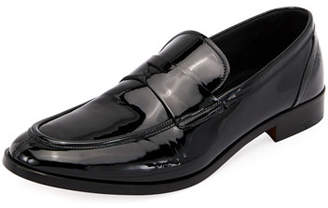 Giorgio Armani Formal Deconstructed Soft Patent Leather Loafer