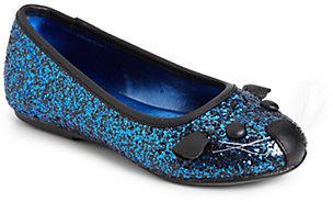 Little Marc Jacobs Girl's Glitter Mouse Ballet Flats