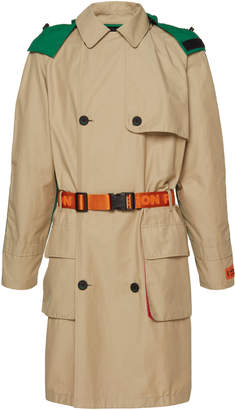 Heron Preston Color-Blocked Cotton-Blend Trench Coat