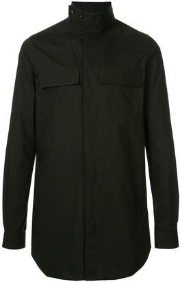 Rick Owens band collar shirt