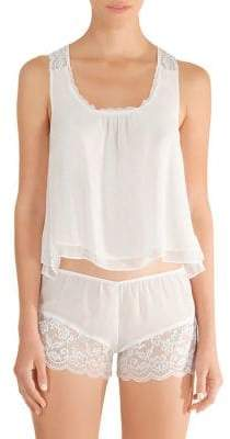 In Bloom Blue Belle Lace-Trimmed Camisole and Shorts