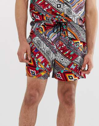 New Look co-ord shorts in aztec print