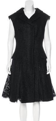 Alexander McQueen Bouclé Pleated Dress w/ Tags