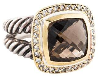 David Yurman Smoky Quartz & Diamond Albion Ring