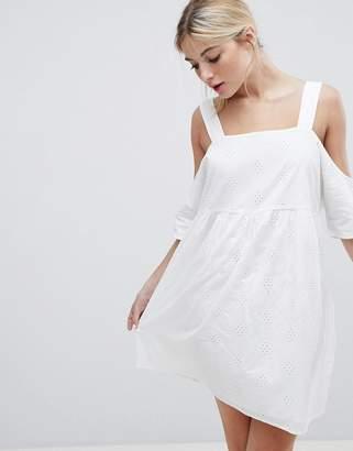 Monki Cold Shoulder Smock Dress