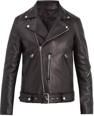 Acne Studios Nate Clean oversized leather biker jacket