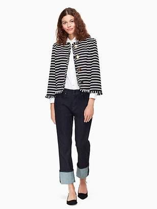 Kate Spade Stripe ponte jacket