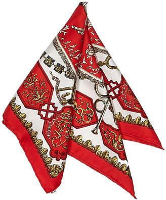 Hermes Women's Vintage Red Silk Scarf