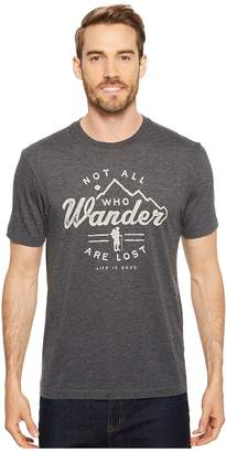 Life is Good Wander Hike Cool Tee Men's T Shirt