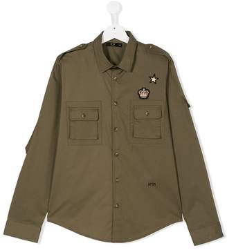 No.21 Kids TEEN badge patch shirt
