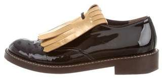 Marni Metallic Kiltie Oxfords