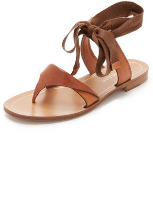 Sarah Flint Saddle Grear Lace Up Sandals $525 thestylecure.com
