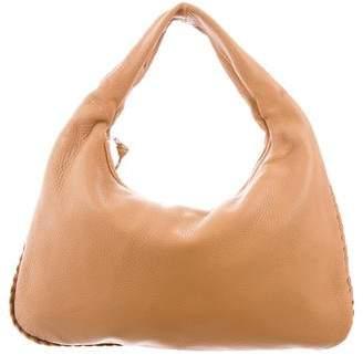 Bottega Veneta Braided-Trim Hobo Bag