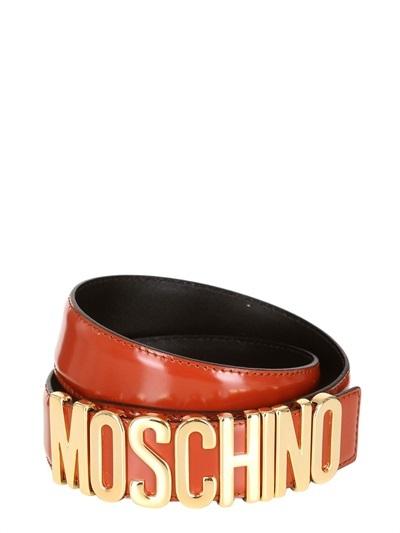 Moschino 35mm Low Waist Leather Belt