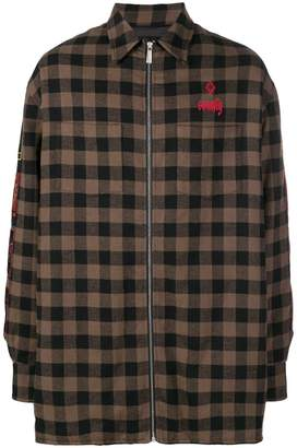 Marcelo Burlon County of Milan oversized check coat