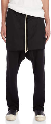Rick Owens Black Kilt Pants